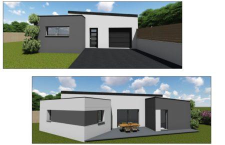Projet d\'une maison contemporaine de plain pied signé à ...