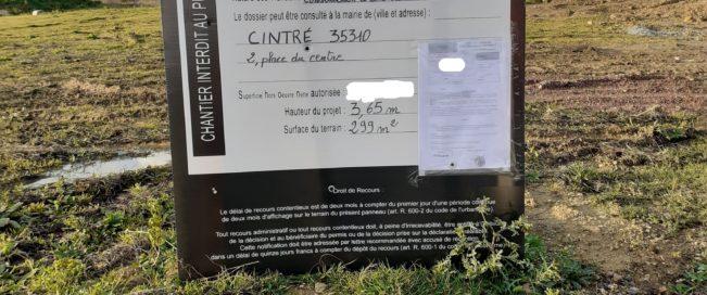 Nouveau permis accordé à Cintré (35)