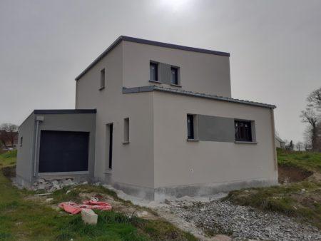 Maison hors d'eau hors d'air en construction à Guipel (35)